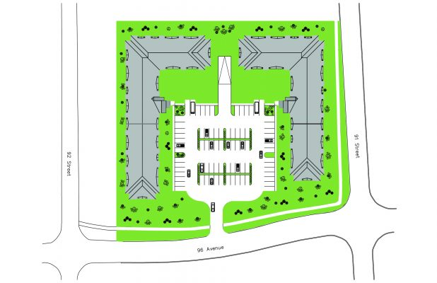 Cobblestone Multi-family Development Plan, In Grand Prairie
