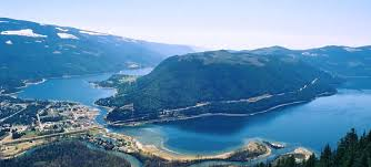 Sicamous BC Aerial View