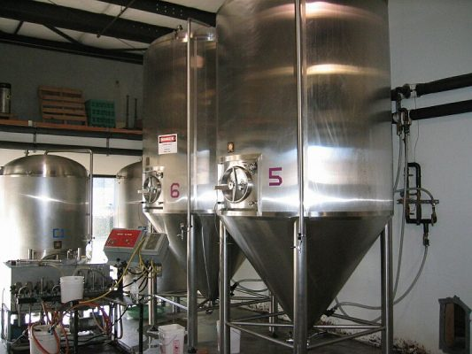 Brewery (interior View With Hoppers)