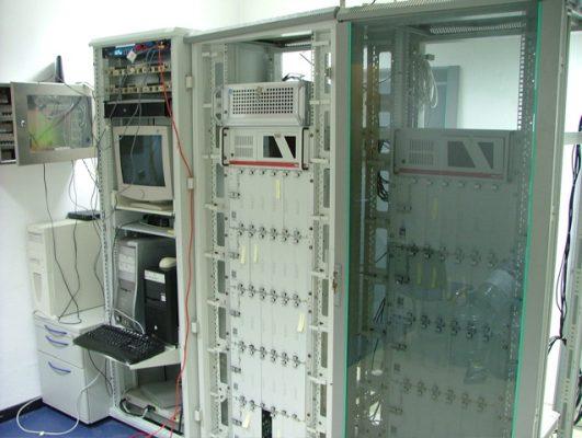 Data Centre - Server Farm 'blades' Closeup